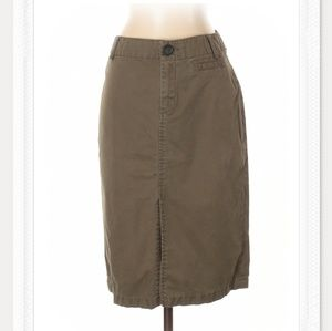 Banana Republic Army Green Midi Skirt